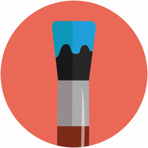 brush, color chooser, design tool, draw tool, shave brush, shaving brush icon