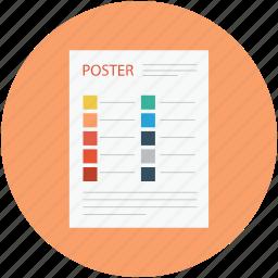 color booklet, color catalog, color combination, color combination design, color combination paper, color menu icon