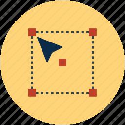 arrow, changing with cursor, cursor, cursor tool, design control, design with cursor, drag, move icon