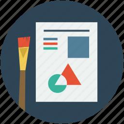 art board, art designing, art work, brush tool, graphic designing, hand designing icon