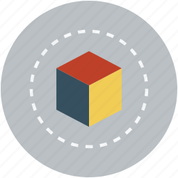box, cube, cube shape, design, graphic, shape icon