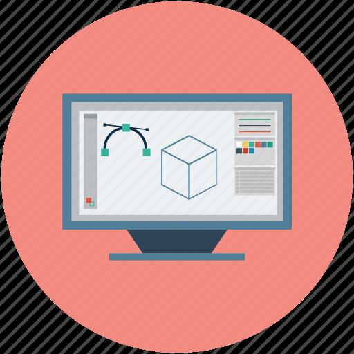 computer designing, design tool, design work, designing software, graphic designing, illustrator tool, photoshop tool icon