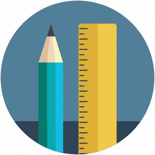 art work, compass art, geometry, pencil, pencil tool, pencil with ruler, ruler icon
