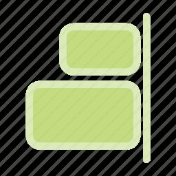 align elements, align right, alignment, right align icon