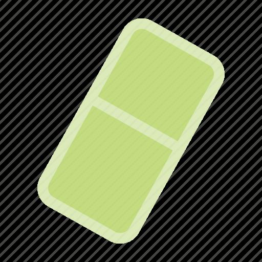 delete, hide, remove, rubber icon