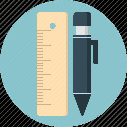 pen, ruler icon