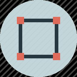 design, shape, square, vector-sign icon