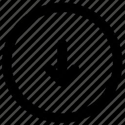arrow, arrows, down, download, left, move icon