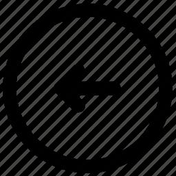 arrow, back, download, left, navigation, pointer, upload icon