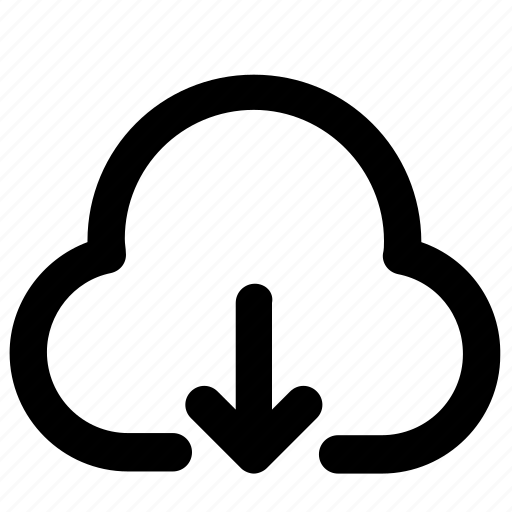 cloud, data, direction, download, guardar, save, server icon