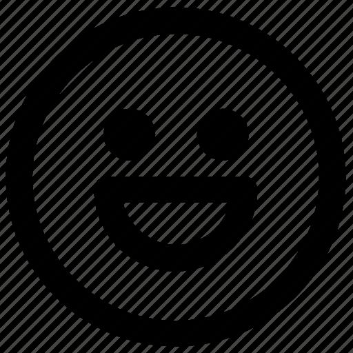 cartoon, emoji, emotion, expression, face, smile icon