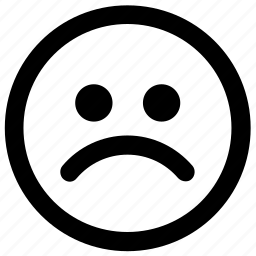 avatar, emoji, emotion, expression, face, sad, smiley icon