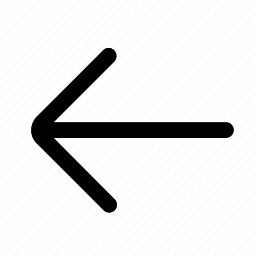 arrow, back, chevron, direction, left, navigation icon