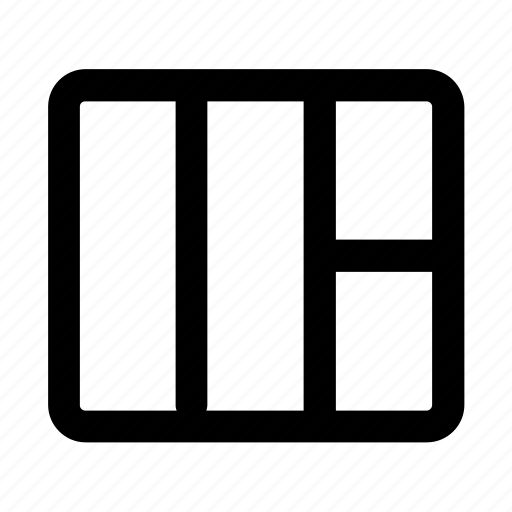 column, grid, inspect, web, web design icon