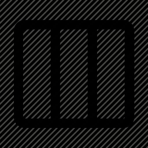 column, design, grid, web, web design icon
