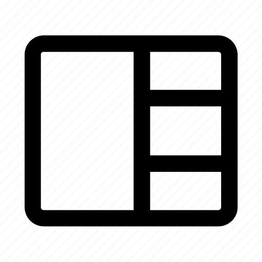 column, design, grid, layout, web, web design icon