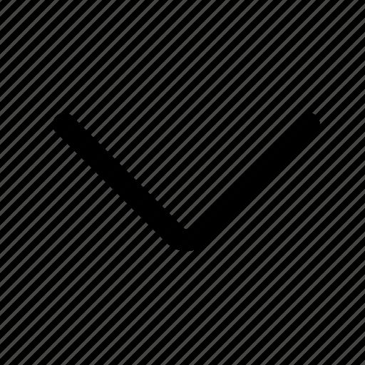 arrow, chevron, direction, down, reveal icon