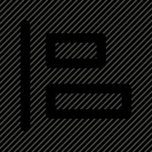 align, layout, left icon