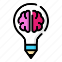 creative, design, highly, idea, thinking icon