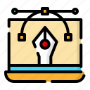 creative, design, thinking, vector illustration icon