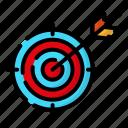 design, goal, target, thinking icon