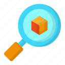 design, detail, object, search, thinking icon