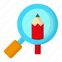 design, detail, search, thinking, zoom icon