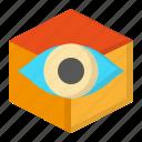 creative, cube, design, thinking, vision icon