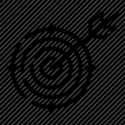creative, design, target, thinking icon