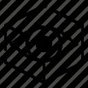 cube, design, thinking, vision icon