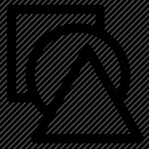 art, circle, design, graphic, shape, square, triangle icon