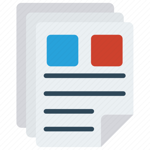 documents, files, pages, paper, sheet icon