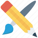 brush, color, edit, paint, write icon