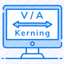 kerning, letter spacing, spacing tool, transform text, typography