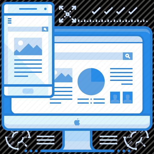 computer, interface, mobile icon