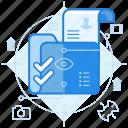 file, folder, portfolio icon