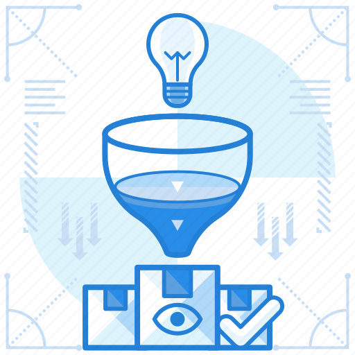 production, result, thought icon