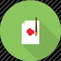 art, brush, design, drawing icon