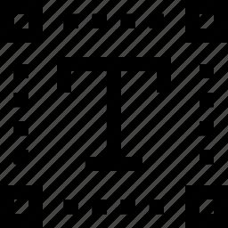 letter, type, type tool icon