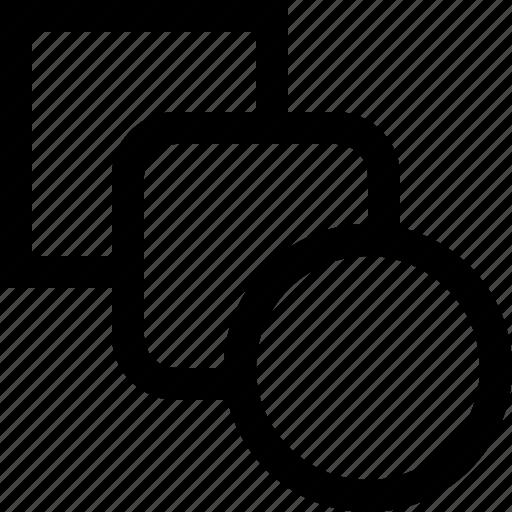 circule, corners, design, graphics, shapes, square icon