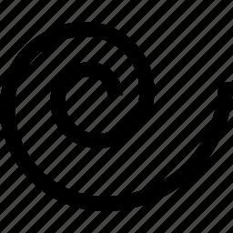 graphics design, line, spiral tool icon
