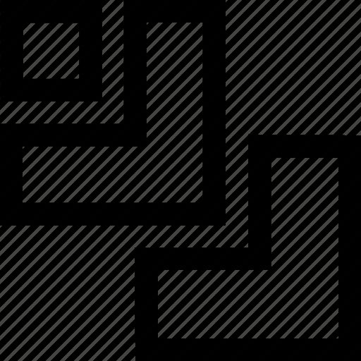 design, graphics, path finder, trim icon