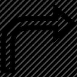 arrow, turn right icon