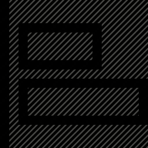 align, design, graphics, horizontal, left icon