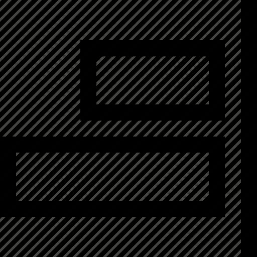 align, design, graphics, right icon