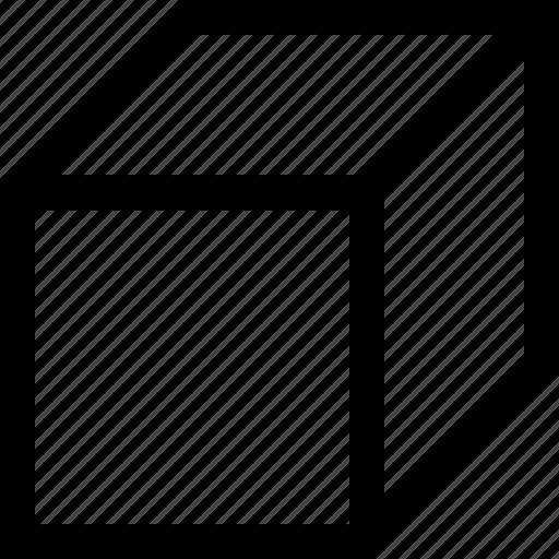 cube, square, three dimensional icon