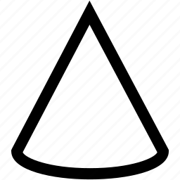circular, round pyramid, three dimensional icon