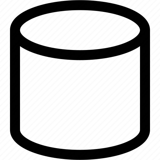 cylinder, design, three dimensional icon
