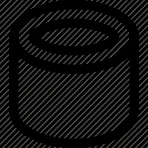 cylinder, three dimensional icon