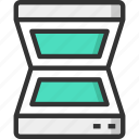 device, hardware, office, peripheral, scanner icon